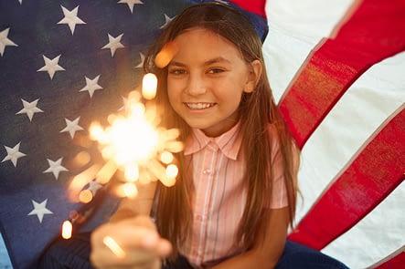 Girl Enjoying 4th of July