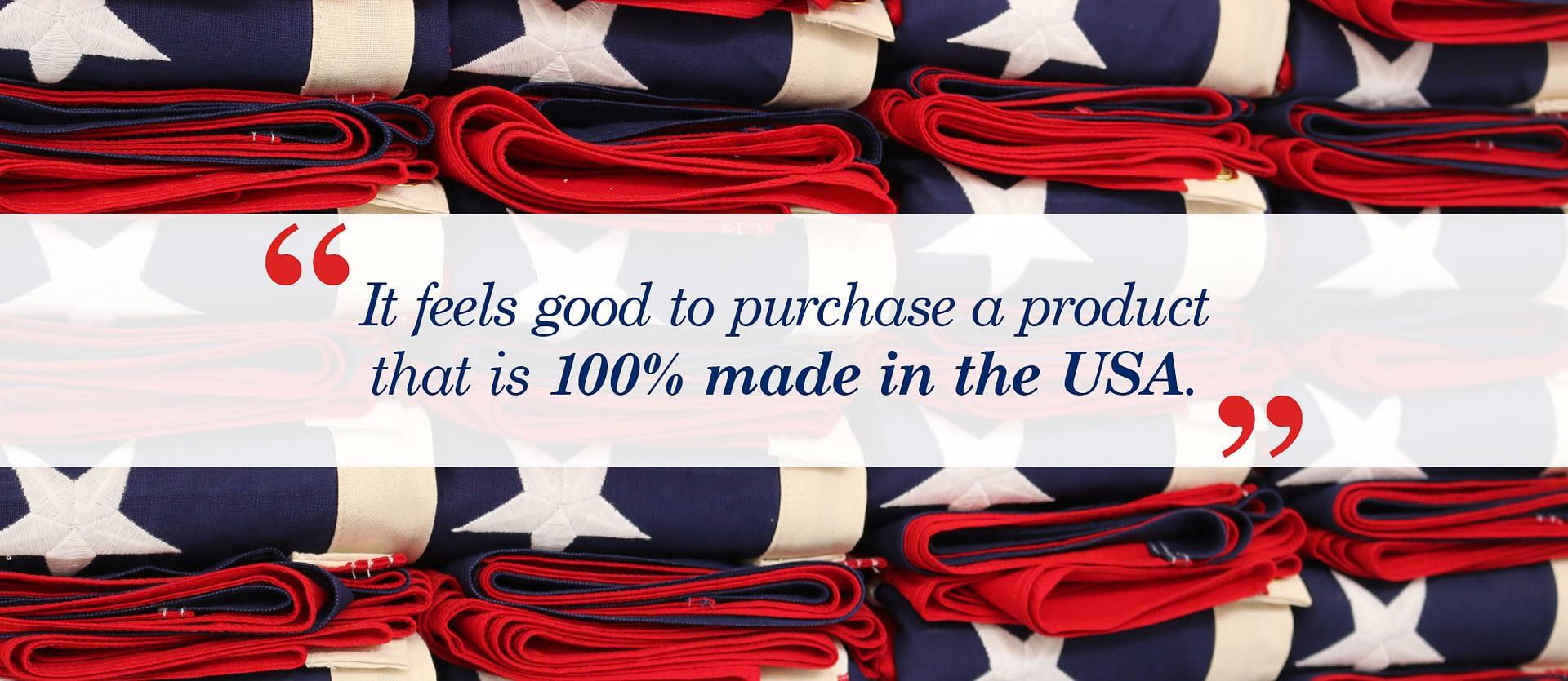 100% Real American Flag