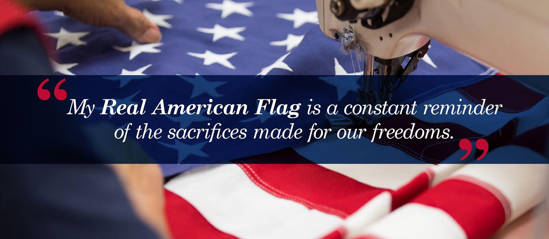 100% American Made Flag