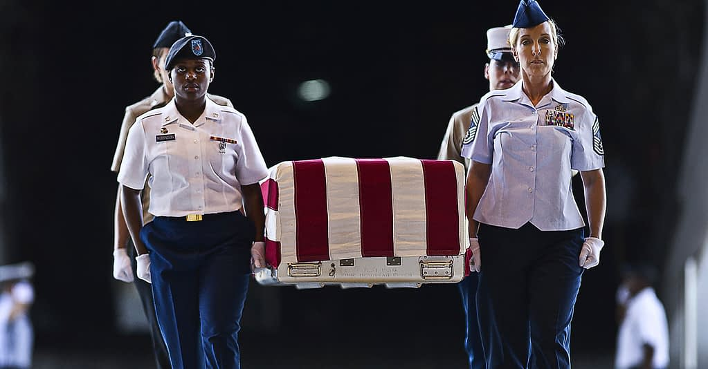 USA Veteran's Burial Flag